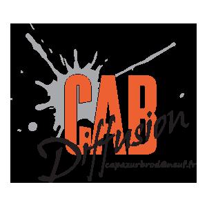 Logo de la société d'impression textile Cab diffusion
